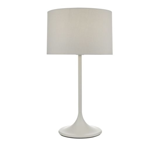 Funchal Table Lamp Grey With Shade, double insulated, BXFUN4239-17
